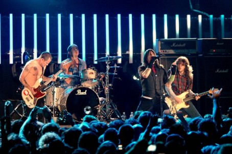 Red Hot Chili Peppers performs, in Milan