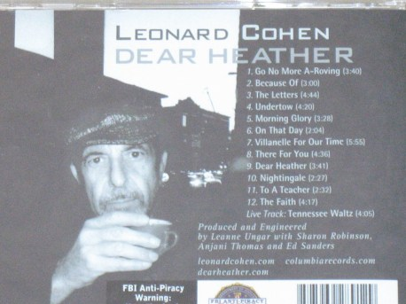 Leonard Cohen Dear Heather back
